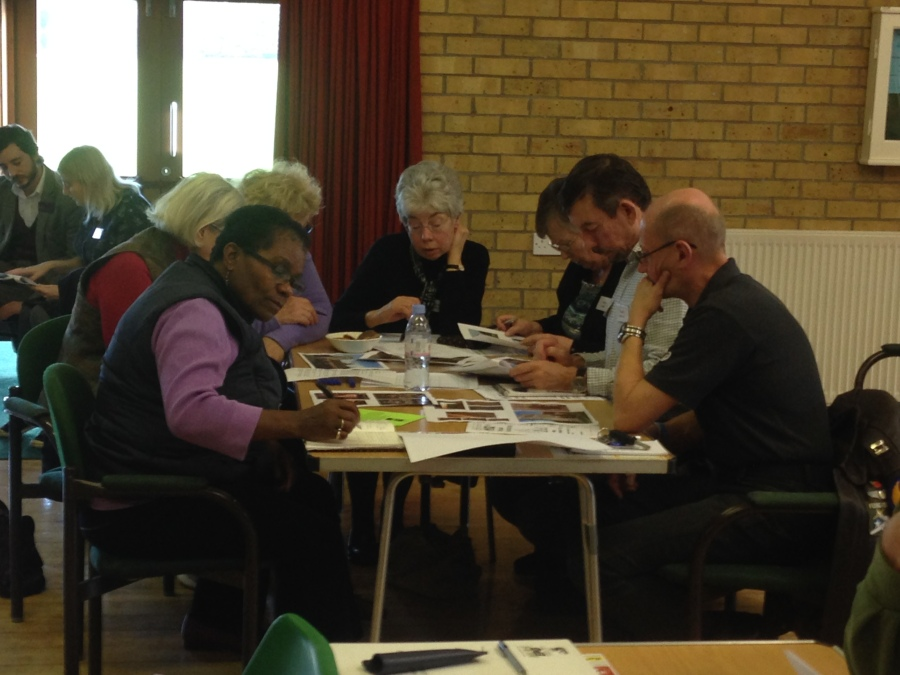 SPAB MCP Volunteers discussing repair Priorities for historic places of worship